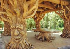 Carved trees! ❤lf