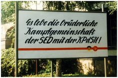 Political propaganda, German Democratic Republic, 1986 in Arnstadt