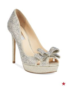 Step up the sparkle for prom night! These platform pumps from INC International Concepts are so gorge — plus, with that bow embellishment, your entrance is going to be unforgettable!