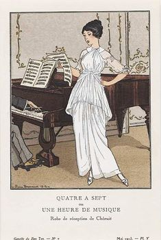 Madeleine Chéruit, reception dress, 1913. Illustration by Pierre Brissaud.