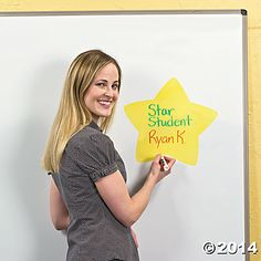 Star Dry Erase Classroom Clings - Oriental Trading