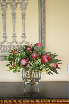 Entertaining From an Ethnic Indian Kitchen: Proteas from the garden