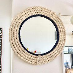 Items similar to Celtic Knot Mirror on Etsy Beach Mirror, Nautical Mirror, Nautical Rope, Nautical Theme, Nautical Style, Round Mirror With Rope, Rope Mirror, Round Wall Mirror, Estilo Hampton