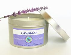 Lavender Candle - gift for her - Mother's Day gifts - handmade - Soy Candles - new mom gift - Aromatherapy - 8 oz tin - Made in Michigan