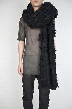 Boris Bidjan Saberi - oversized handknit scarf