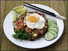 Thai Fried Rice With Soft-Yolk Egg