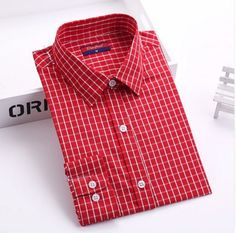 Plaid Pattern Broadcloth Casual Style top For Women. Collar Styles, Blouse Styles, Plaid Shirt Women, Plaid Fashion, Mens Fashion, Women Sleeve, Plaid Pattern, T Shirts, Blouses For Women