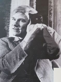 Warhol with Kitten 1957