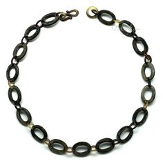 QueCraft Burned Horn Chain Necklace - Q11535 - 1