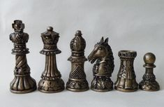 Medium Ornate Latex Chess Moulds/Molds 9 by ChessMouldsAndMore