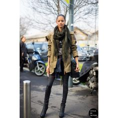 Milan Fashion Week FW 2014 Street Style Malaika Firth found on Polyvore