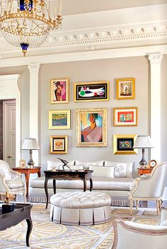 MUCH BETTER example than I have ever accomplished of my own design philosophy of having complex neutral walls so that your artwork and/or furnishings can pop! Siller/Hokanson house featured in Houston Luxe magazine; photo posted by Joni Webb of Cote de Texas who tracks things like this...
