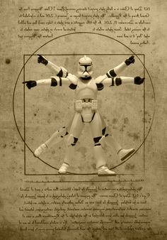 """""""Vitruvian Trooper"""" - Iconic Images Recreated With Star Wars Figures"""