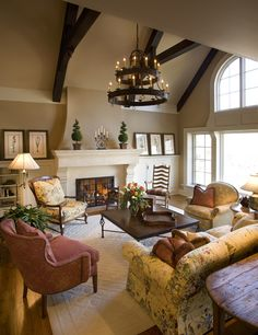 Nice color with painted, vaulted ceiling