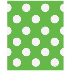 Lime Green Decorative Dots Lootbag | Partyrama.co.uk