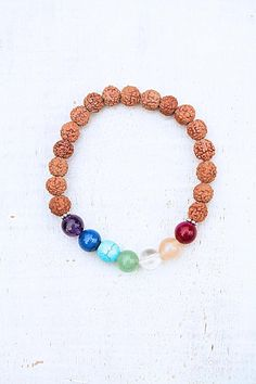 Rudraksha bracelet Chakra silver gemstones gift spirit