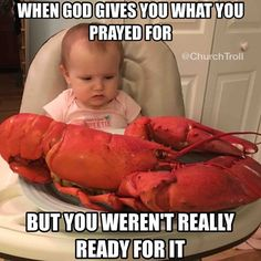 Hallelujah!!! When God gives you what you prayed for... but you really weren't ready for it. Lesson: be careful with what you ask for, because He may actually give it to you. God is good... all the time.  ~@guntotingkafir
