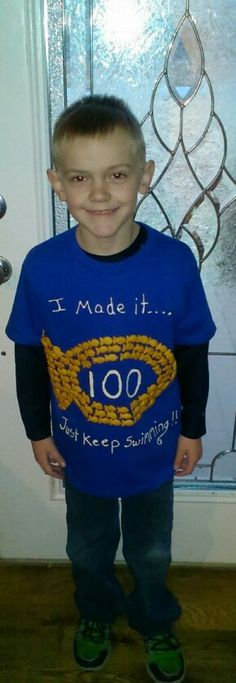 Mason's 100th day of school shirt!