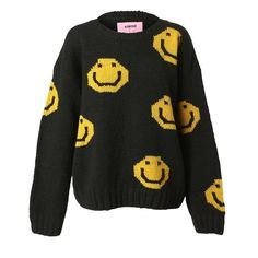ASHISH 'Acid face' hand-knit sweater ❤ liked on Polyvore
