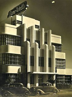 How wonderful is the art deco architecture on this building?! It was the Lane-Wells Company headquarters in Los Angeles, circa 1939. They sure don't make 'em like this anymore. This building stands at 610 South Soto Street in Highland Park, and is still gloriously intact.
