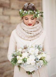 mariee neige mariage montagne