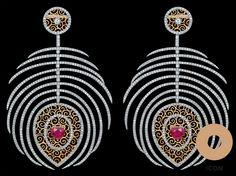Feather #earrings by Bapalal Keshavlal - #BapalalKeshavlal