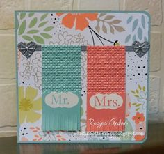 """My Digital Studio was used to create this card...very similar to the """"Towels for Two"""" SU stamp."""