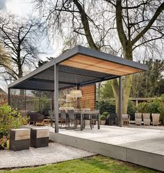 Automated Umbris Patio Roofs Freestanding
