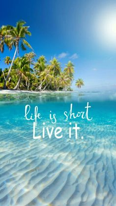 Life is short live it quote Cute Spring Nails, Perfect Wallpaper, Beach Quotes, Making Waves, Morning Humor, Tumblr Wallpaper, Life Is Short, Good Thoughts, Aesthetic Pictures