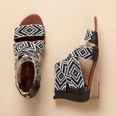 Beaded sandals from Sundance. Great pattern. #shoes #sandals