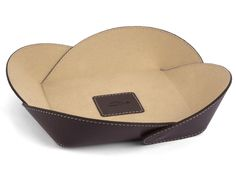 Catchall Design Leather Tray in brown Leather Catch all
