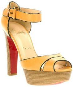 ShopStyle: Christian Louboutin platform sandal