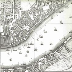 Must get a more current map! John Roque's map of London 1747
