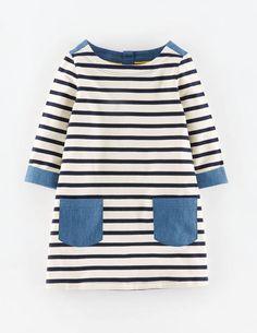 Chambray Jersey Tunic - use Bateau Neck tunic by Aesthetic Nest