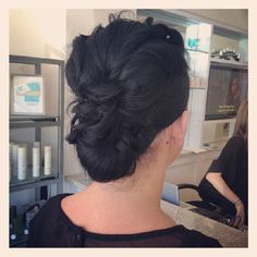 Love this messy updo!