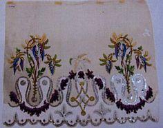 Quand les fleurs habillaient Joséphine ....    Broderies pour la mode Directoire-Premier Empire