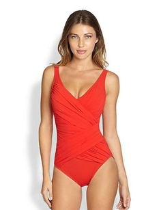 GOTTEX One-Piece Beach Goddess Surplice Swimsuit