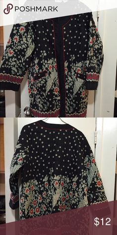 Blair quilted jacket Blair Kimono style quilted jacket. Size 3X. Beautiful pattern for those cool days ahead. Jackets & Coats Jean Jackets
