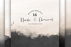 Nude and Charcoal backgrounds by The little cloud on @creativemarket