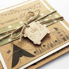 Rustic tipi festival design wedding invitation Eaton Card and Stationery www.eatonstationery.com