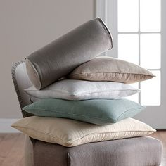 Pretty color combo Linen Pillow Covers   The Company Store