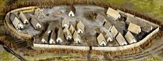 Foschner on Federsee. Reconstruction of a village dated to the late Bronze age.
