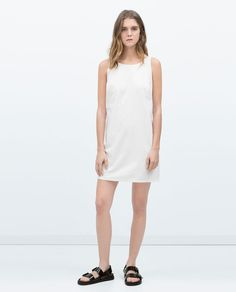 ZARA - TRF - DRESS WITH BACK FRILL
