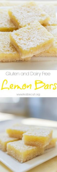 Gluten and Dairy Free Lemon Bars with the best shortbread base ever! | visit teabiscuit.org for more gluten free recipes