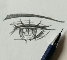 Manga Drawing Tips ~ Anime Drawings Sketches, Pencil Art Drawings, Anime Sketch, Manga Drawing, Poses References, Anime Eyes, Drawing Techniques, Drawing Tips, Eye Art