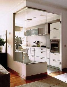 Smart use of glass to open the
