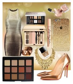 gold by xxrandomgirlxx on Polyvore featuring polyvore beauty Morphe Givenchy Charlotte Tilbury Paco Rabanne Butter London Halston Heritage Christian Louboutin
