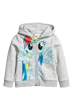 Hooded jacket with print motif | H&M