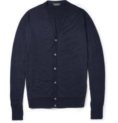 John Smedley Bryn Fine-Knit Merino Wool Cardigan | MR PORTER