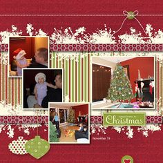 MDS 094 Countdown to Christmas Scrapbook Page